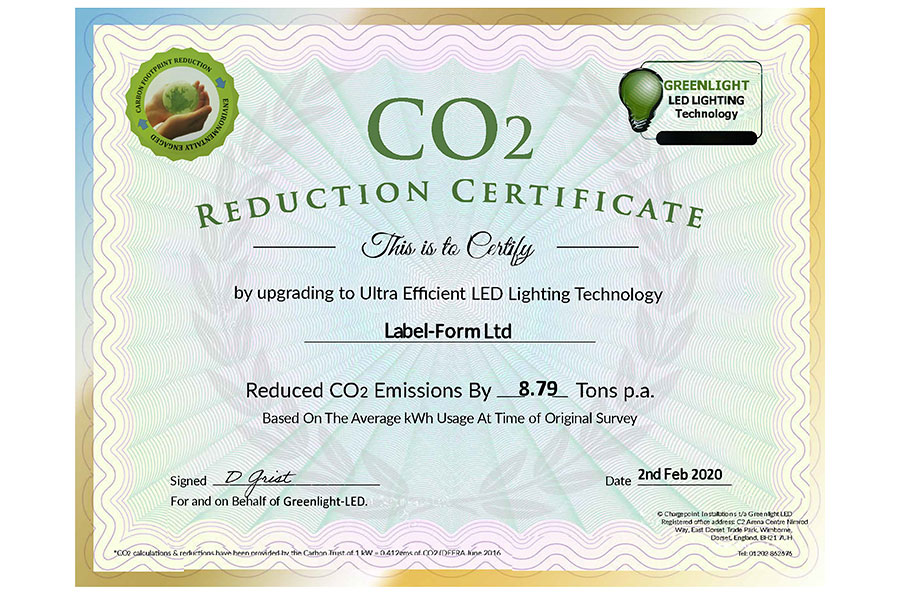 Reduced C02 Emissions by 8.79 Tons p.a. Post Image